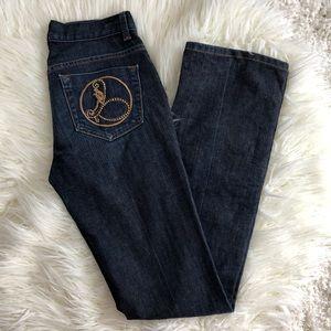 NWOT BEBE jeans caren girl emblem 27